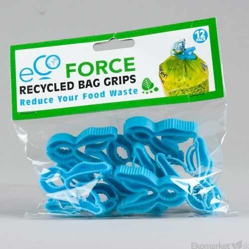 Recyklované uzávery na sáčky Ecoforce 12ks
